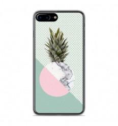 Coque en silicone Apple IPhone 8 Plus - Ananas marbre