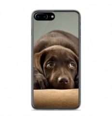 Coque en silicone Apple IPhone 8 Plus - Chiot marron