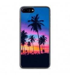 Coque en silicone Apple IPhone 8 Plus - Palmiers colorés