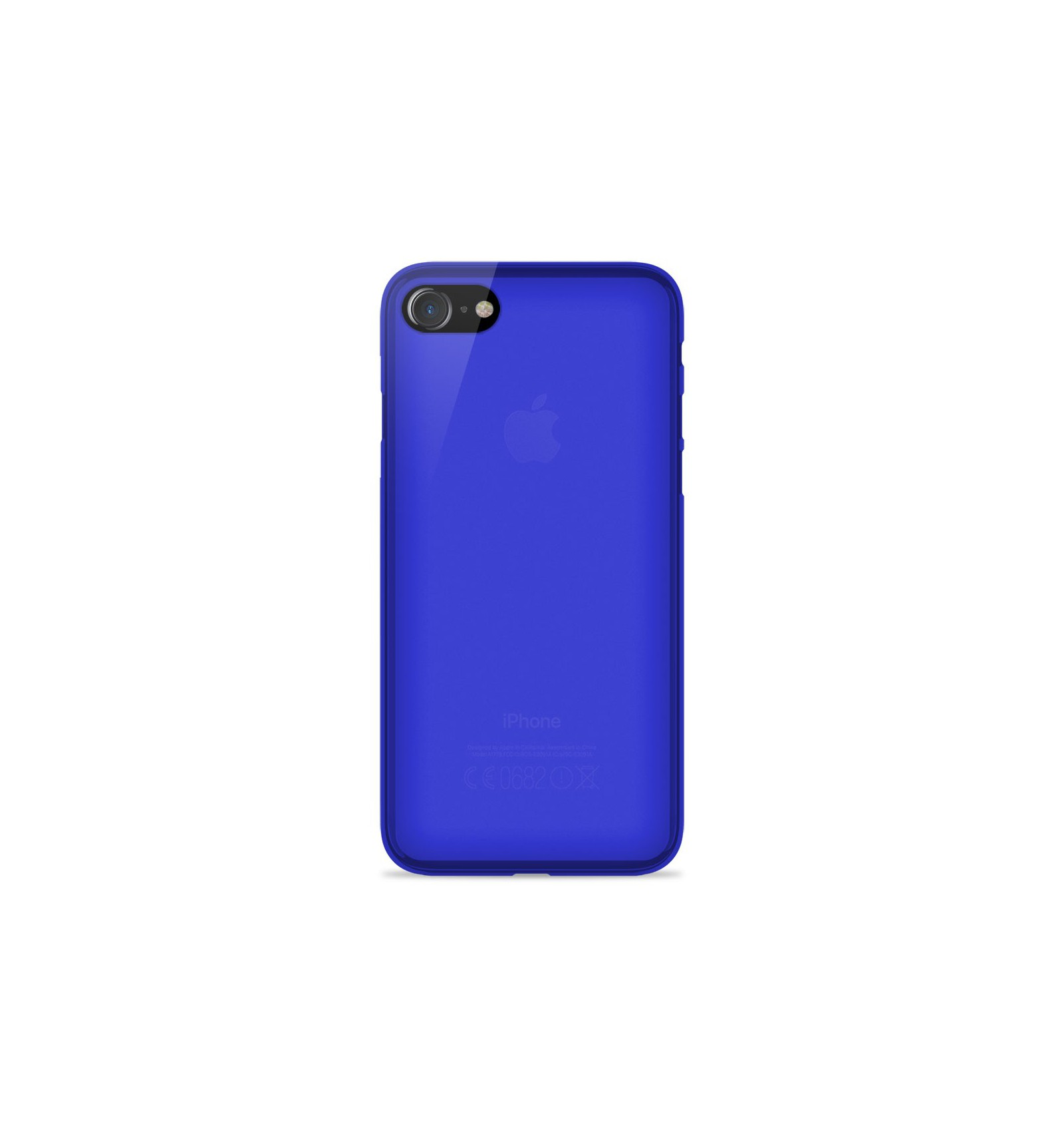 iphone 8 plus coque silicone bleu