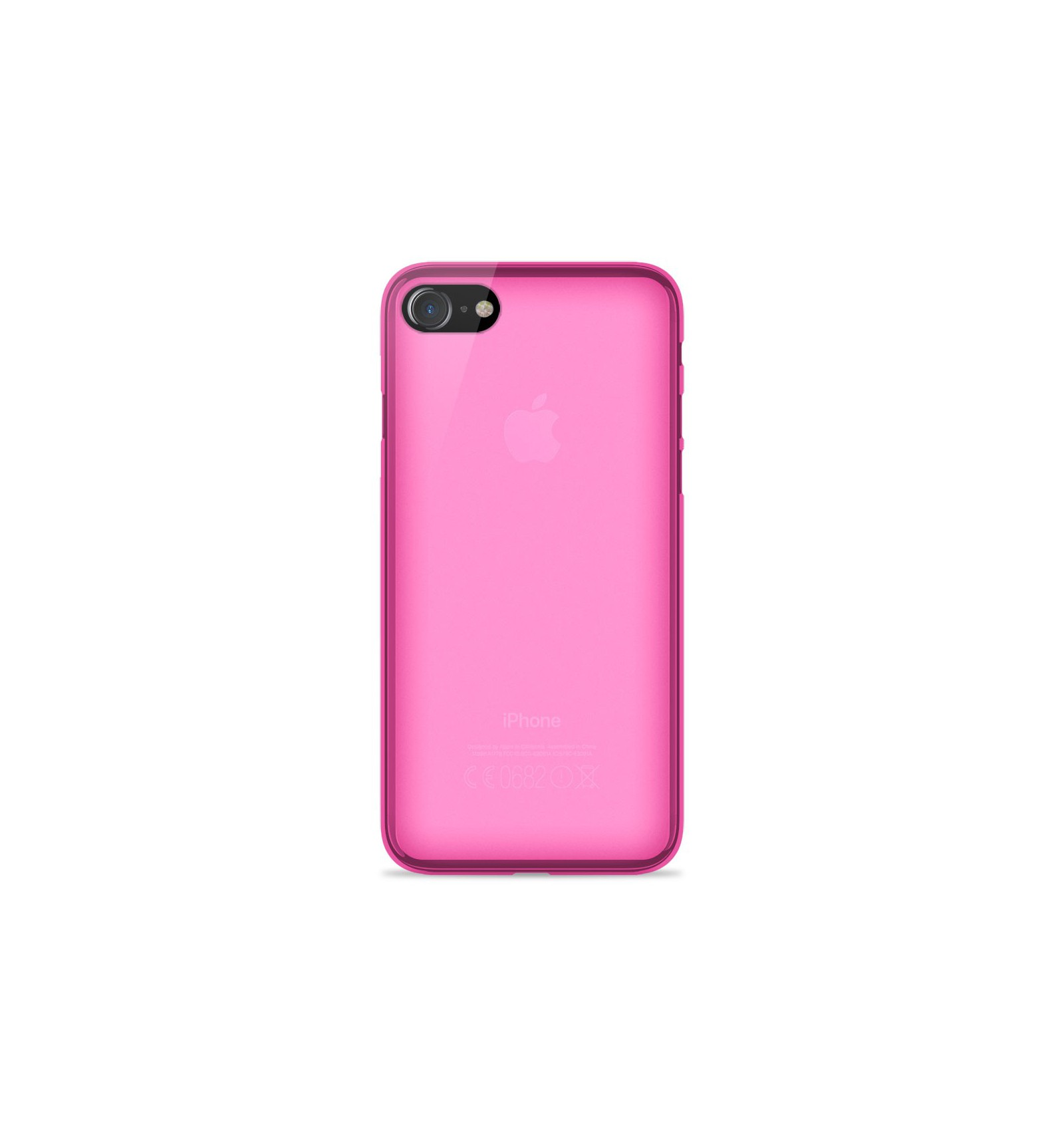 iphone 8 coque rose silicone