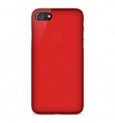 Coque Apple IPhone 7 Plus / iPhone 8 Plus Silicone Gel givré - Rouge Translucide