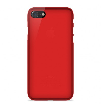 Coque Apple IPhone 7 Plus / iPhone 8 Plus Silicone Gel givré - Rouge Translucide