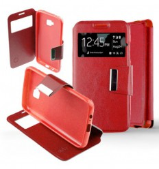 Etui Folio Samsung Galaxy A3 2017 - Rouge