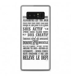 Coque en silicone Samsung Galaxy Note 8 - Citation 11
