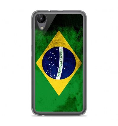 Coque en silicone Wiko Sunny 2 - Drapeau Brésil