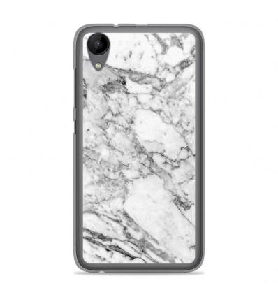 Coque en silicone Wiko Sunny 2 - Marbre Blanc