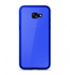 Coque Samsung Galaxy A3 2017 Silicone Gel givré - Bleu Translucide