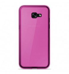 Coque Samsung Galaxy A3 2017 Silicone Gel givré - Rose Translucide