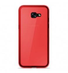 Coque Samsung Galaxy A5 2017 Silicone Gel givré - Rouge Translucide