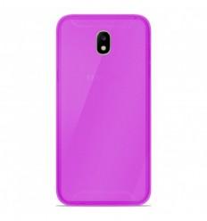 Coque Samsung Galaxy J3 2017 Silicone Gel givré - Violet Translucide