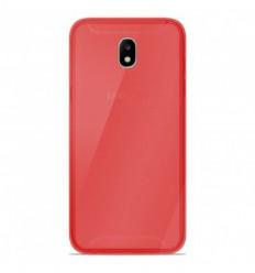 Coque Samsung Galaxy J5 2017 Silicone Gel givré - Rouge Translucide