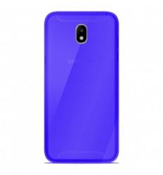 Coque Samsung Galaxy J7 2017 Silicone Gel givré - Bleu Translucide