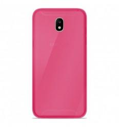Coque Samsung Galaxy J7 2017 Silicone Gel givré - Rose Translucide