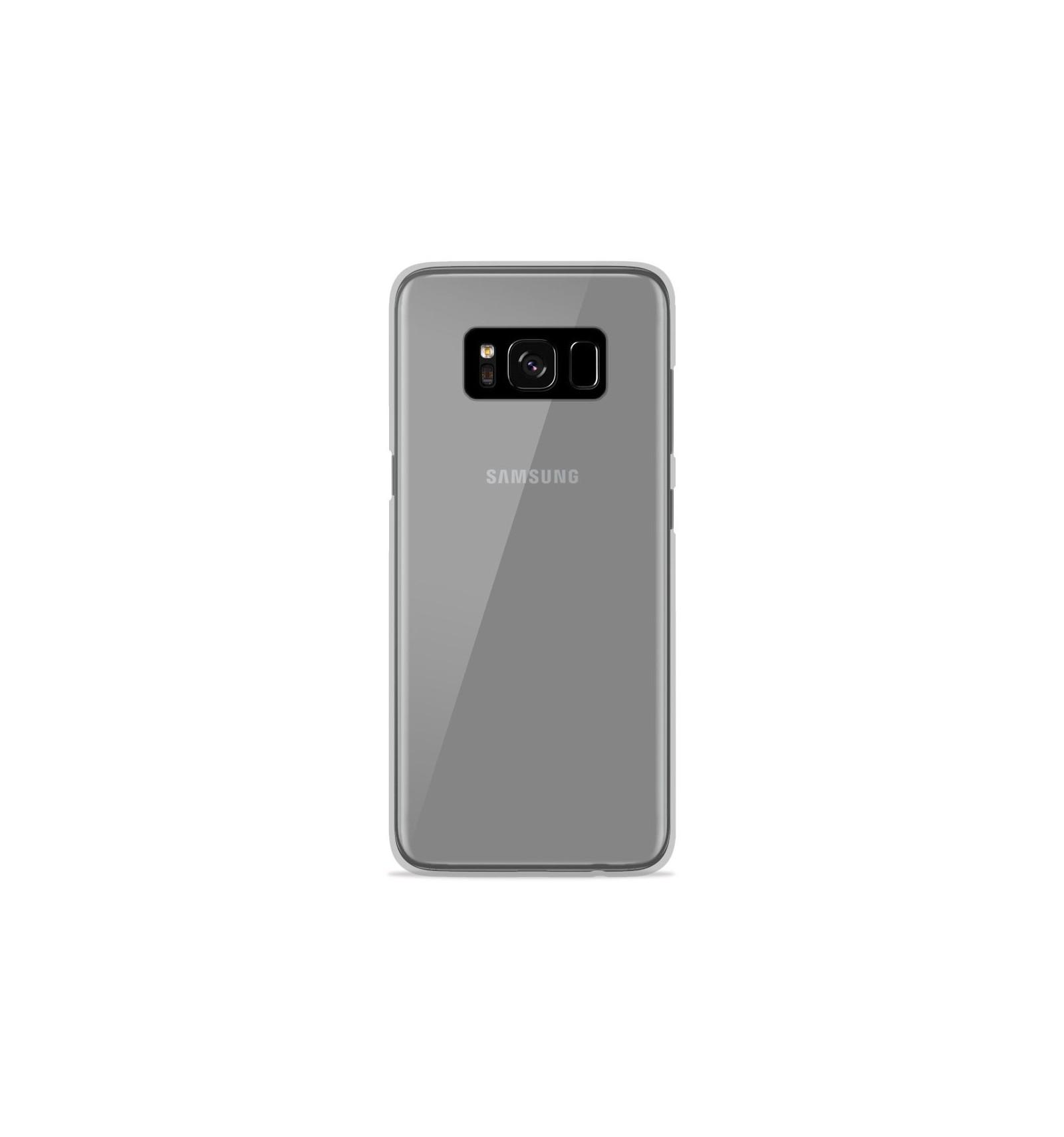 Coque Samsung Galaxy S8 Silicone Gel givré - Transparent