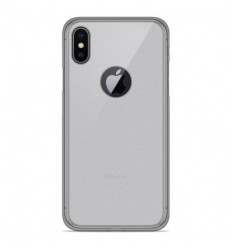 Coque Apple iPhone X / XS Silicone Gel givré - Blanc Translucide