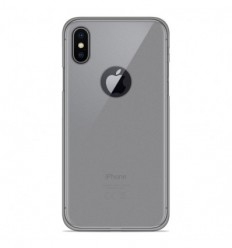 Coque Apple iPhone X / XS Silicone Gel givré - Transparent
