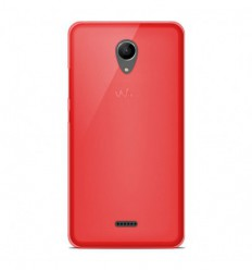 Coque Wiko Freddy Silicone Gel givré - Rouge Translucide