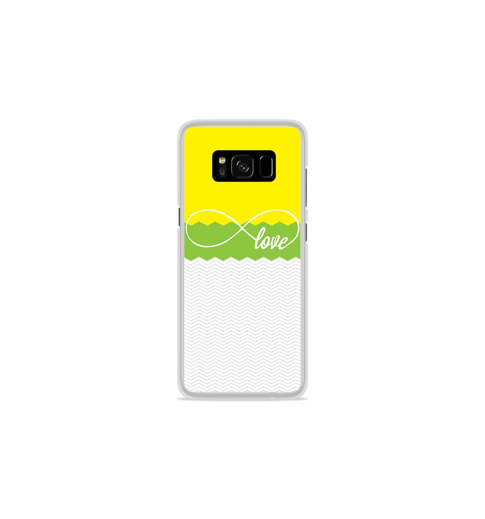 coque samsung s8 plus jaune silicone