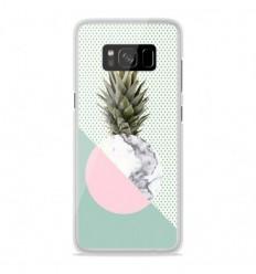 Coque en silicone Samsung Galaxy S8 Plus - Ananas marbre
