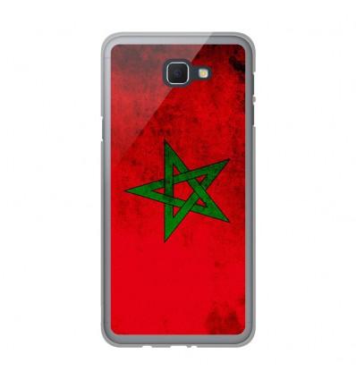 Coque en silicone Samsung Galaxy J5 Prime - Drapeau Maroc