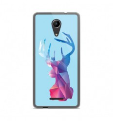 Coque en silicone Wiko Tommy 2 - Cerf Hipster Bleu