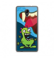 Coque en silicone Wiko Tommy 2 - Happy Monster