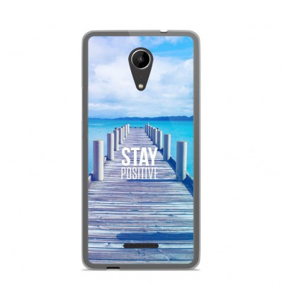 Coque en silicone Wiko Tommy 2 - Stay positive