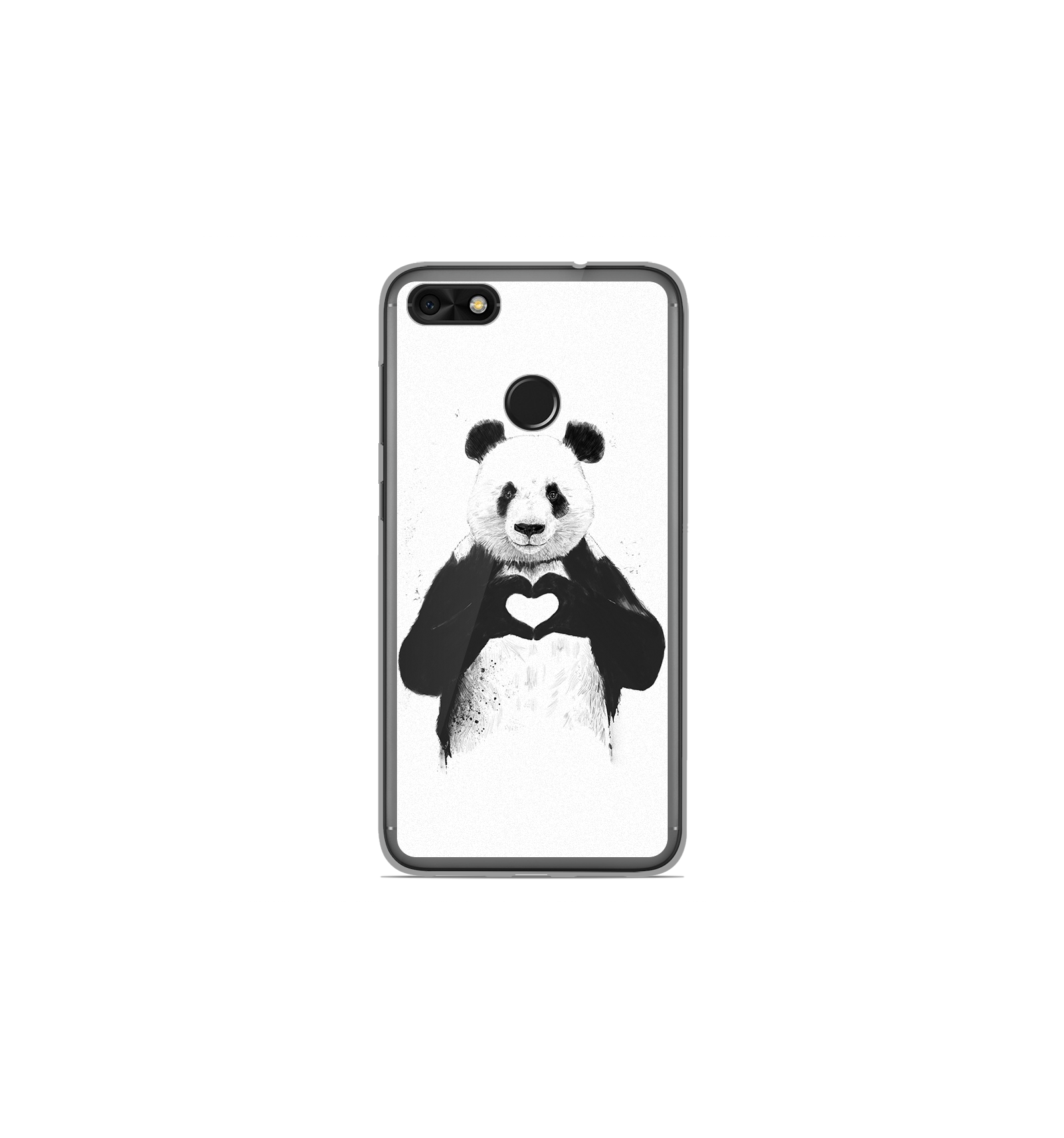 coque en silicone huawei y6 pro 2017 bs love panda. Black Bedroom Furniture Sets. Home Design Ideas
