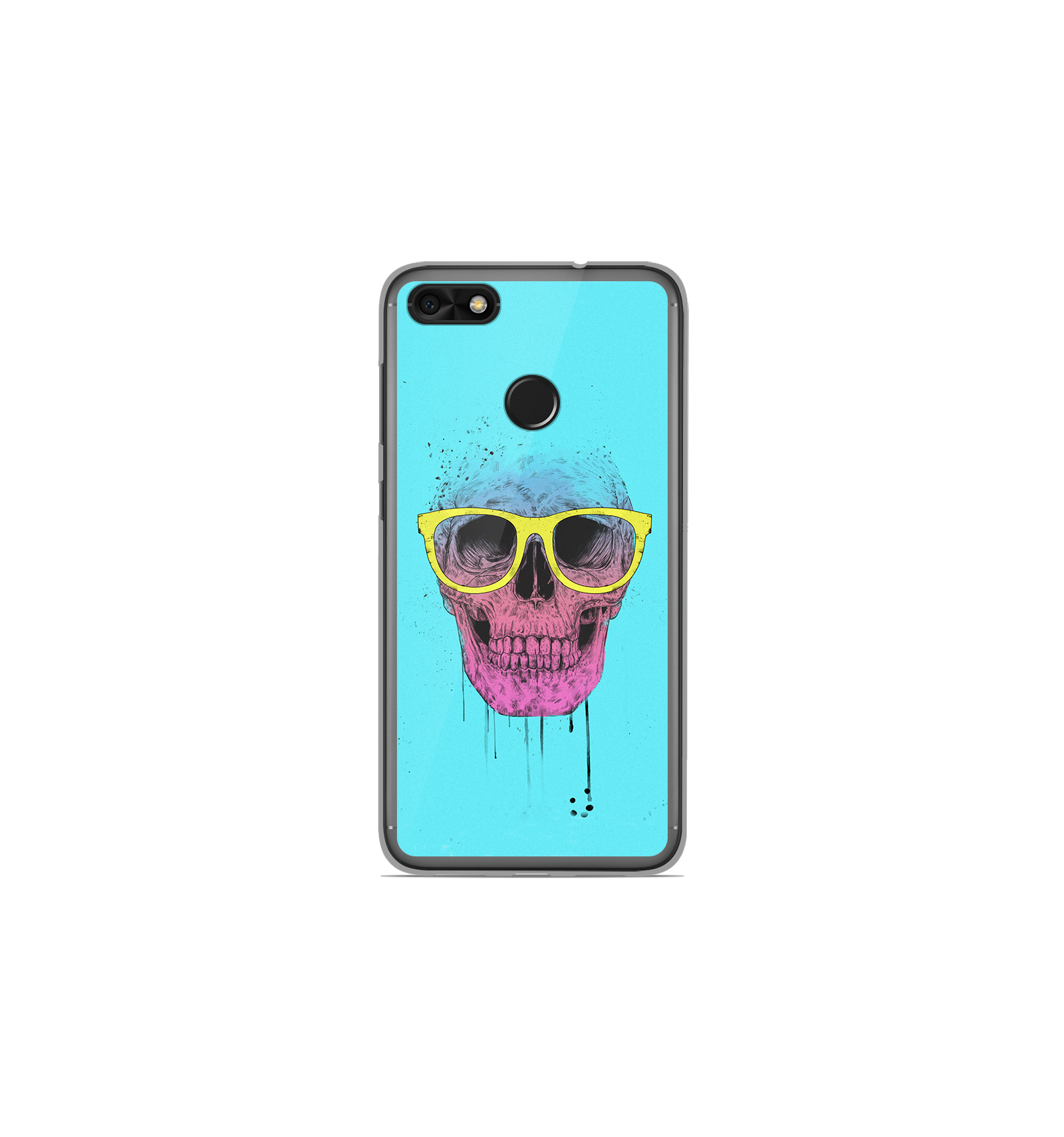 coque en silicone huawei y6 pro 2017 bs skull glasses. Black Bedroom Furniture Sets. Home Design Ideas