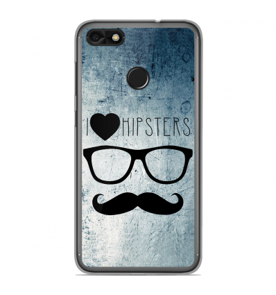 coque en silicone huawei y6 pro 2017 i love hipster. Black Bedroom Furniture Sets. Home Design Ideas