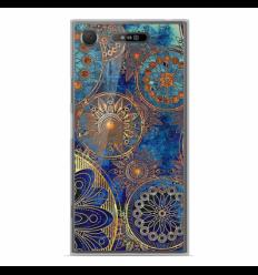 Coque en silicone Sony Xperia XZ1 - Mandalla bleu