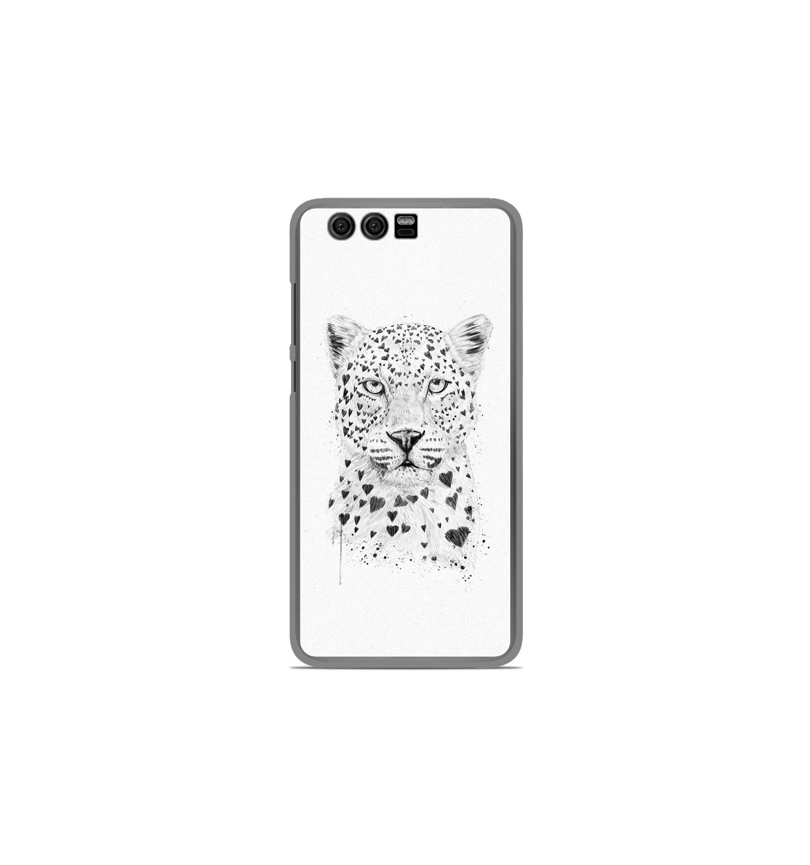 coque en silicone huawei honor 9 bs love leopard. Black Bedroom Furniture Sets. Home Design Ideas