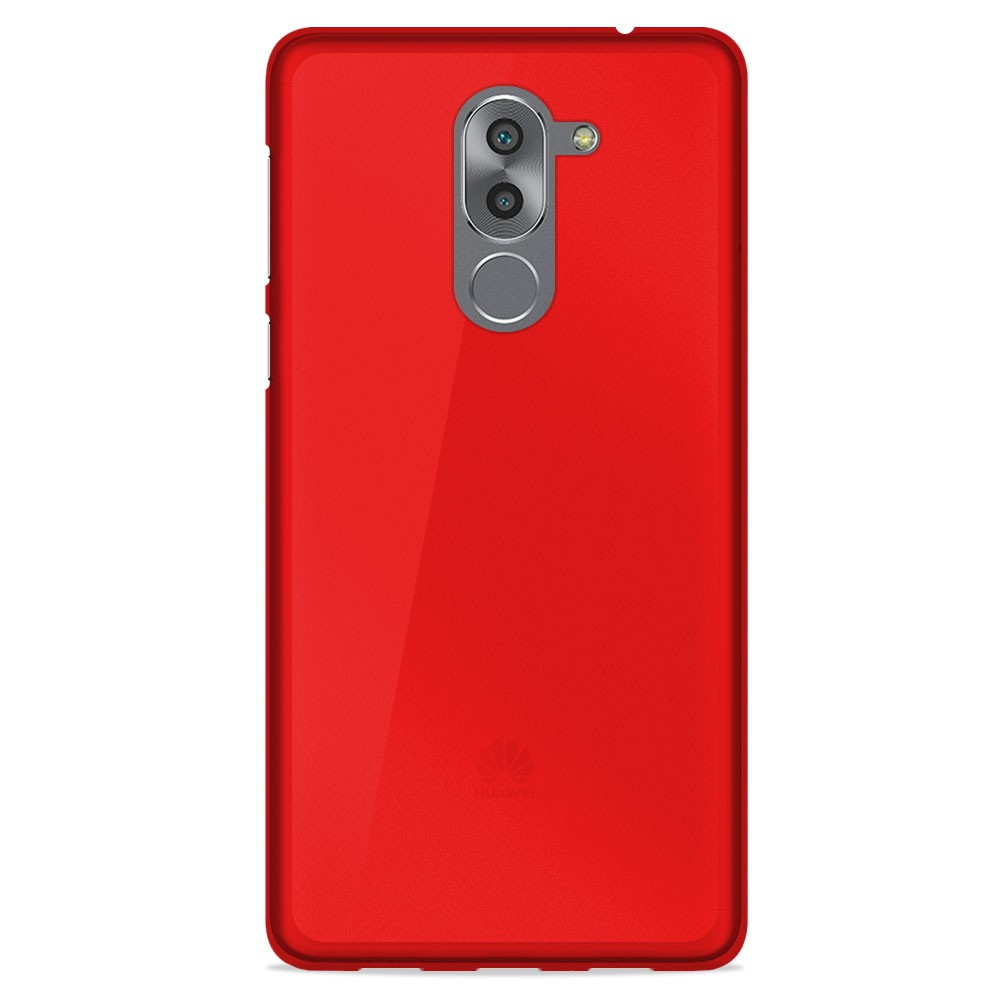 Coque Huawei Honor 6X Silicone Gel givré - Rouge Translucide