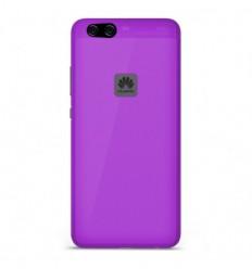 Coque Huawei P10 Lite Silicone Gel givré - Violet Translucide
