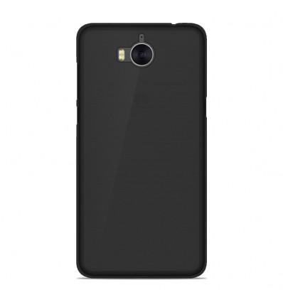 Coque Huawei Y5 2017 Silicone Gel givré - Noir