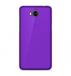 Coque Huawei Y6 2017 Silicone Gel givré - Violet Translucide
