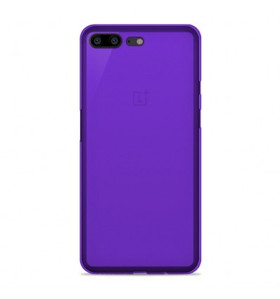 coque oneplus 5 silicone gel givr violet translucide. Black Bedroom Furniture Sets. Home Design Ideas