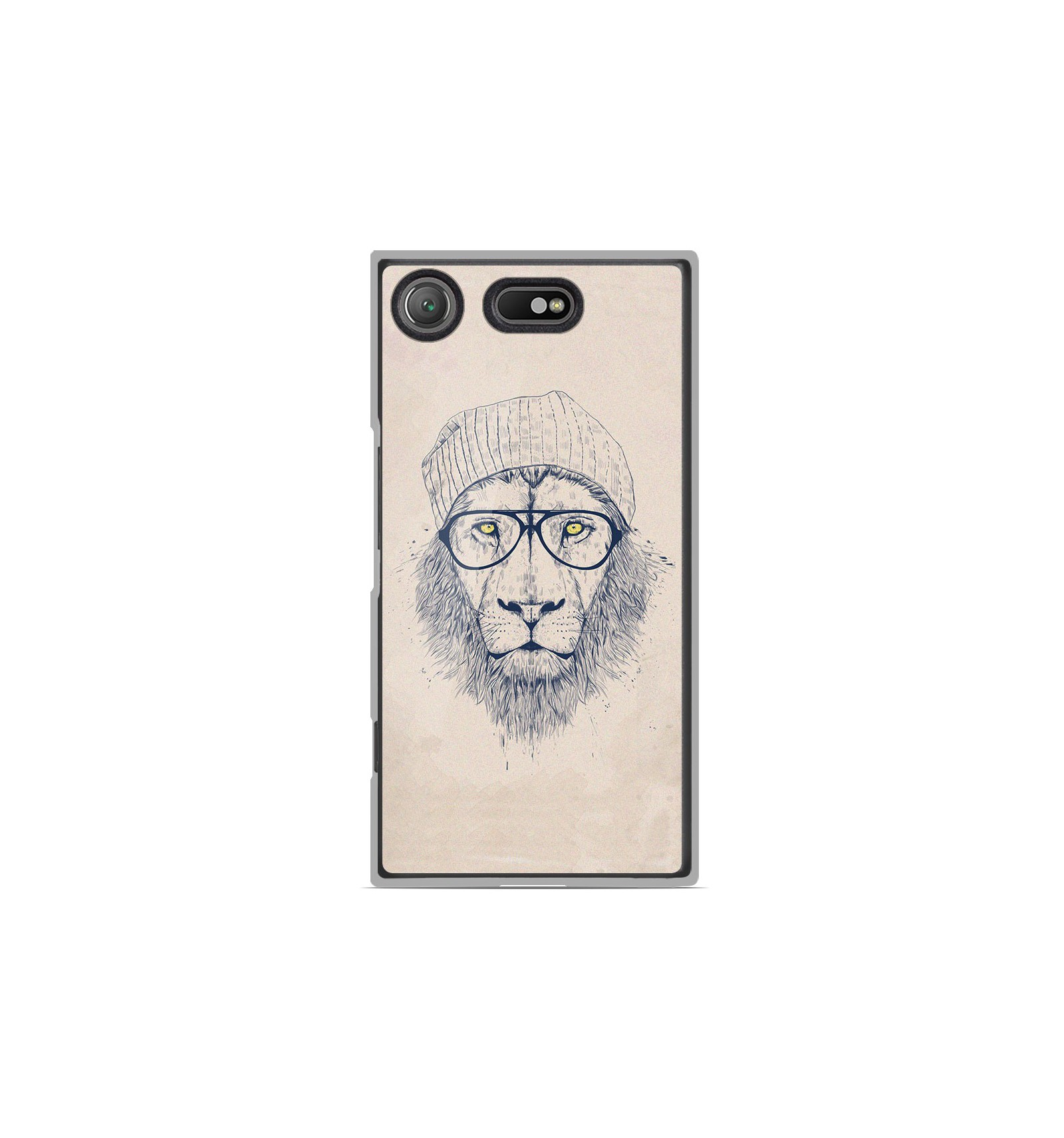 coque en silicone sony xperia xz1 compact bs cool lion. Black Bedroom Furniture Sets. Home Design Ideas